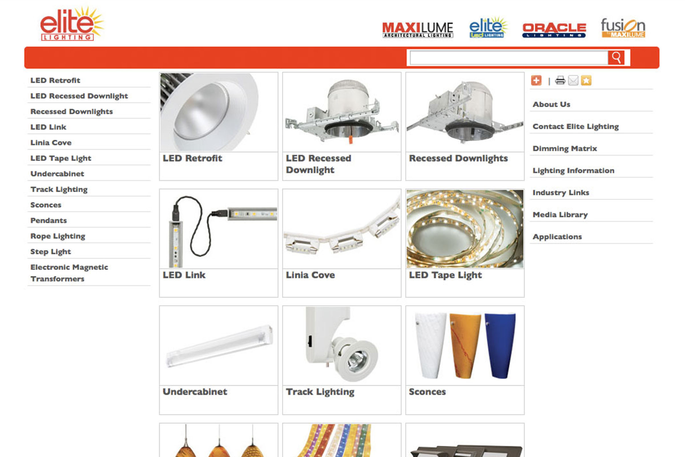 Elite Lighting Websites