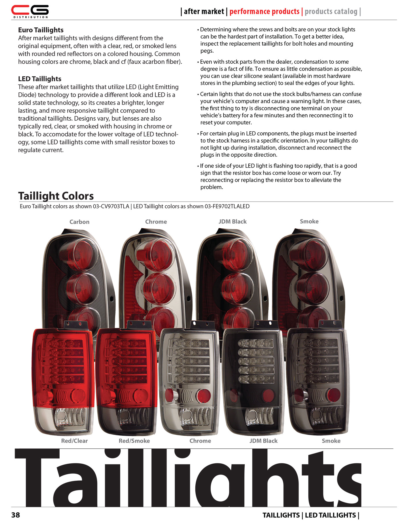 38 Taillights Info